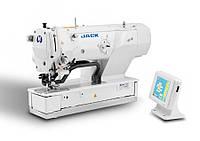 Jack JK-T1792BS(K) петельная машина-автомат челночного стежка с электронным управлением и рабочей рамой 120мм