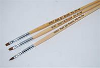 Набор кистей деревянная ручка 3 шт. NK-06-04, YRE