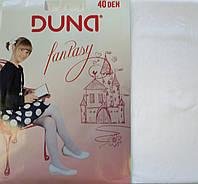 Колготки капроновые Duna 40den белые без рисунка
