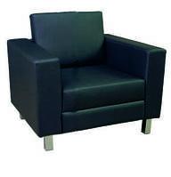 Мягкий диван из кожзама в офис Твист 1 (900*760 h810)
