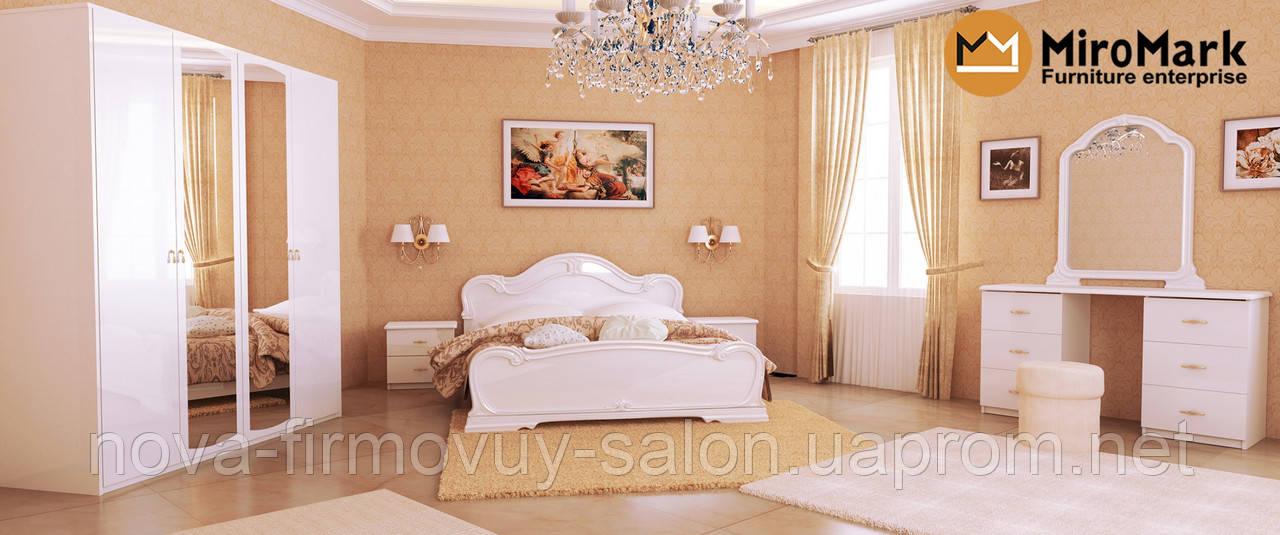 Спальня Футура глянець білий