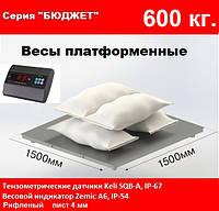Платформенные весы 1500х1500мм. 600 кг. Бюджет.