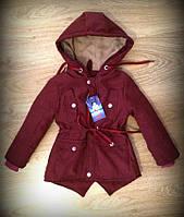 Детская парка демисезон на девочку, мальчика, Весна осень 2017, куртка весенняя, 86 - 116 см, 1-7 лет