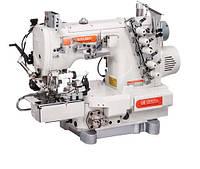 Siruba C007KD-W532-356/CR/CX/UTP/CL/RLP распошивальная машина для вшивания резинки в трикотажные изделия, с рукавной платформой,  роликами для