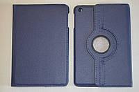 Поворотный 360° чехол-книжка для Apple iPad mini (темно-синий цвет)