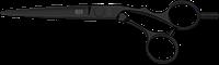 Ножницы супер эргономичные 5,5 KASHO Silver Black KSI-550OS DLC