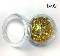 Украшение для дизайна ногтей Брокард пластик №2