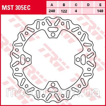 Тормозной диск TRW-Lucas MST305EC