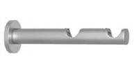 Кронштейн цилиндрический двойной для карниза кованого длина 9/15 см,Ø 16 мм, СЕРЕБРО МАТОВОЕ