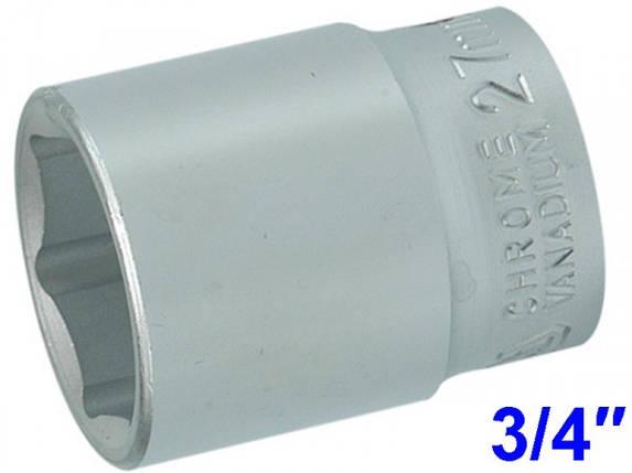 """YATO Головка торцева 6-гранна , з квадр. 3/4"""", М=27 мм, L=50 мм , фото 2"""