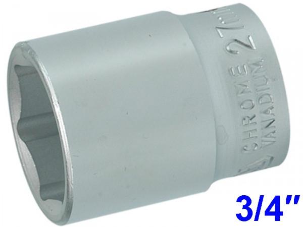 """YATO Головка торцева 6-гранна , з квадр. 3/4"""", М=27 мм, L=50 мм"""