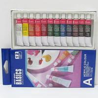 Фарби акрілові для живопису BASICS 12кол*12мл, в тубах, EA1212C, MBGI - WAP
