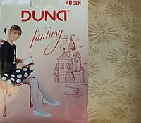 Колготки капроновые Duna 40den бежевые c рисунком
