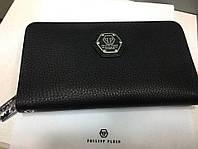 Кожаный кошелёк Philipp Plein в подарочной упаковке