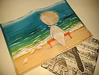 Обложки на паспорт эко-кожа Гапчинская, девочка на пляже (качество - супер)