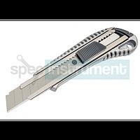 Нож усиленный прорезной с лезвием 18 мм HTOOLS 17D128