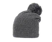 Женская теплая вязаная шапка с помпоном ACHTI Польша, фото 3