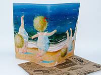 Обложки на паспорт эко-кожа Гапчинская, Дети на пляже (качество - супер)