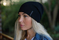 Стильная женская шапка-баф (цвет - черный)