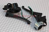 Крепление и рычаг под зеркало левое и правое для троса с рукояткой  на скутер Wind -Viper