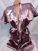 Женский халат комплект с ночной рубашкой