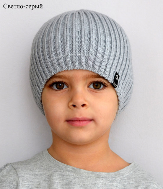 Модная шапка для подростка мальчика