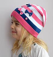 Детская шапка Арктик Шапка Пуговицы, хлопок, весна, 1слой. р. 50-56 тем.синий, тем.серый, св.серый, т.роз