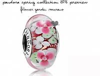 Розовая Мурано с цветами Pandora, серебро