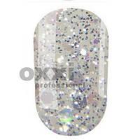 Гель лак OXXI Professional №206 (Прозрачный с серебряными блестками разного размера) 8 мл