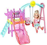 Набор Barbie Развлечения Челси Качели с горкой