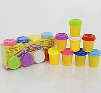 Набор для творчества. Тесто для лепки 8 цветов в баночках 400 гр