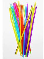 Трубочки для напитков цветные гофра 21см 1000шт/уп