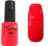 Гель-лак Tertio 017 Оранжево-розовый неоновый, эмалевый плотный без перламутра и микроблеска, 10 мл.