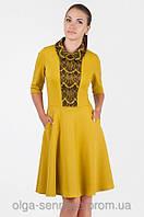 Нарядное  платье с кружевом украинского производителя