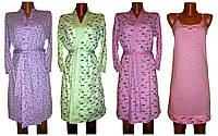 Комплект пеньюар Кэтти Пастель, ночная рубашка с халатом, хлопок, р.р.42-56