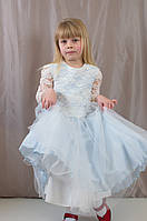 Нарядное пышное гипюровое детское платье для утренника, р. 98,104