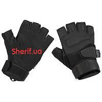 Перчатки тактические короткопалые Max Fuchs  Protect Black 15553A