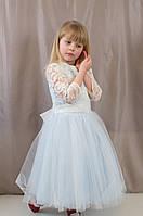 Нарядное бальное пышное гипюровое детское платье для утренника, р.122,128,134