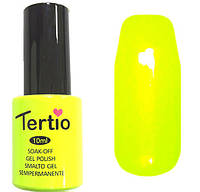 Гель-лак Tertio 019  Кислотный желтый без перламутра и микроблеска, 10 мл.