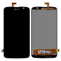 Дисплейный модуль (дисплей + сенсор) для BLU D790U Studio G, черный, оригинал