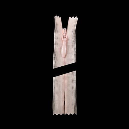 Молния YKK потайная 50 см. цвет 364-розовый, фото 2