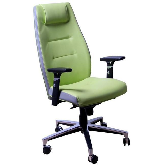 Кресло Элеганс HB Неаполь-34 салатовый, боковины-задник Неаполь-23 серый