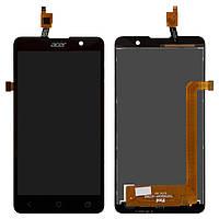 Дисплей + сенсорное стекло (touchscreen) для Acer Liquid Z520 Dual Sim, черный, оригинал