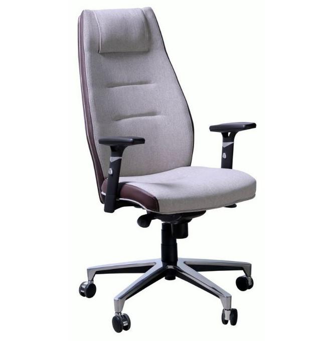 Кресло Элеганс HB цветные боковины Synchro, светло серый