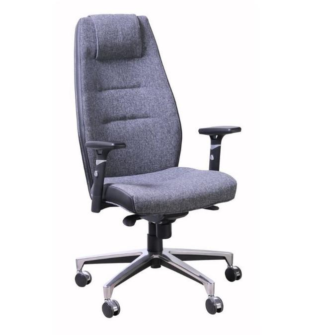 Кресло Элеганс HB цветные боковины Synchro, серый/ Papermoon-031 (серый) боковины задник Неаполь-20 (черный)