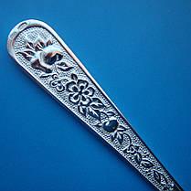 Серебряная кофейная подарочная ложка с цветами, 16 грамм, фото 2
