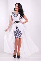 Роскошное  платье с шифоновой юбкой (двойка)