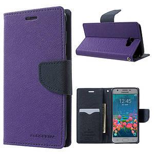 Чехол книжка для Samsung Galaxy J5 Prime G570 / On5 2016 боковой, Mercury GOOSPERY, фиолетовый