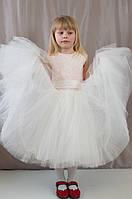 Нарядное пышное гипюровое детское платье для праздника, р.98,104