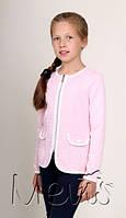 Жакет-пиджак для девочки ТМ Мевис, розовый